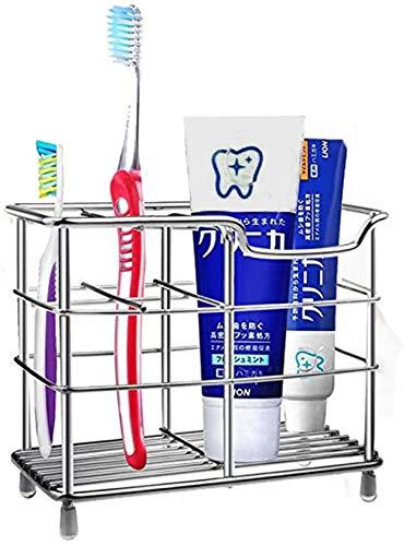 Portaspazzolino in Acciaio Inox, a Prova di ruggine, per dentifricio, rasoi, detergente facciale, Organizer da Bagno, Porta spazzolini elettrici