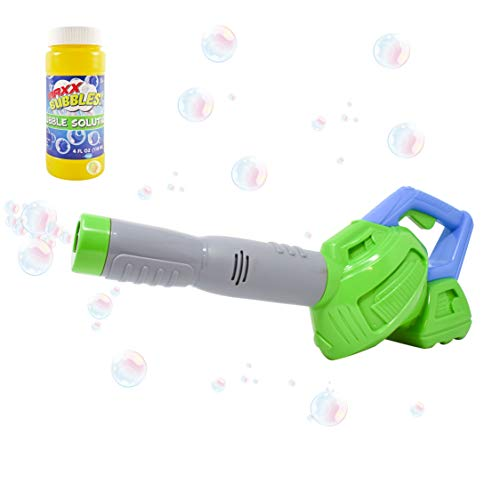 Maxx Bubbles Toy Bubble Leaf Blower with Refill Solution - Bubble Toys for Boys and Girls | Outdoor Summer Fun for Kids and Toddlers - Sunny Days Entertainment