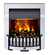 Inset fire with unique Opti-myst smoke and flame effect Fully variable flame and smoke intensity control Silent flame and smoke effect operation 2kW fan heater with thermostat Remote control