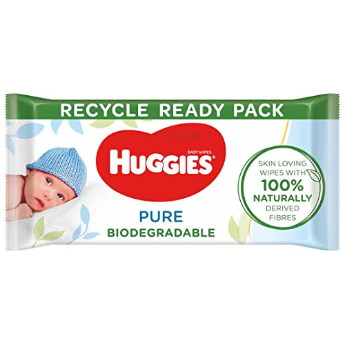 Huggies Pure Salviette Umidificate Biodegradabili per Bambini, 12 Confezioni da 56 Salviette