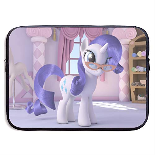 Rarity My Little Pony Laptop Sleeve Bag Tablet Briefcase Ultraportable Protective Canvas for MacBook Pro/MacBook Air/Notebook Computer15 Inch