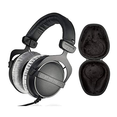 Beyerdynamic DT 770 PRO Headphones (250 Ohm) with Knox Gear Hard Shell Headphone Case Bundle (2 Items)