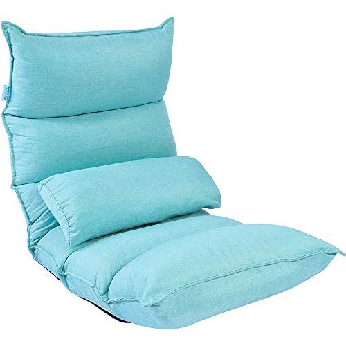 YYLNB Faltbare und beweglicher Nursing Stuhl, faules Sofa, Taille Unterstützung, Subwoofer-Einstellungen (Farbe: Blau, Größe: 53 * 130CM) Kostenlose 3D-Waist-Kissen (Color : Blue)