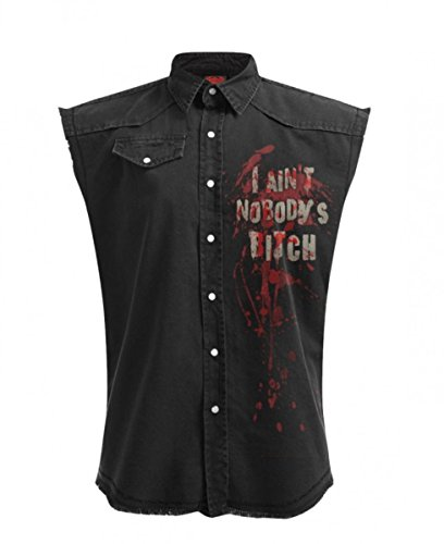 Dark Dreams Gothic Hemd Workshirt Zombie Weste Daryl Wings The Walking Dead Flügel M L XL XXL, Größe:XXL