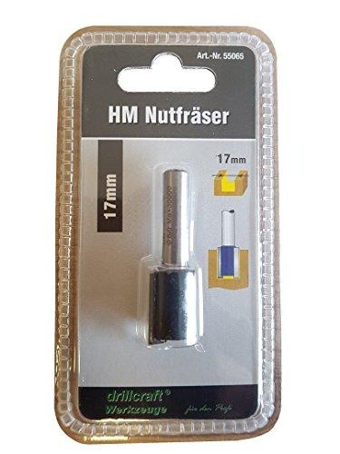 Schaftfräser Nutfräser D 17mm Schaft 8mm, HM, C Profil Holzfräser T-Nutschiene