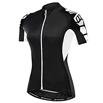 NUCKILY Women s Cycling Jersey Short Sleeve with 3 Pockets Bike Bicycle Clothing Biking Riding Shirts Cycle Wear