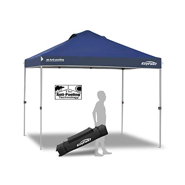 EzyFast Patented Antipool Instant Beach Canopy Shelter for Rain or Sunshine, Portable...