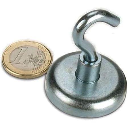 Haftkraft ca 2 Neodym Hakenmagnete /Ø 32 mm 34 kg