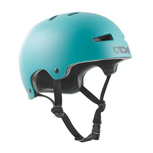 TSG - Casco da BMX/Dirt bike Evolution Solid Color, satinato, colore: Cauma Green, verde, S/M (54-56cm)