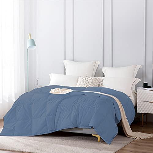 Aiglen Edredón ligero/Inserción de edredón Relleno de plumón de ganso blanco 100% Edredón acolchado Manta de enfriamiento Relleno de 700 (Color : Blue, Size : 200x200 cm)