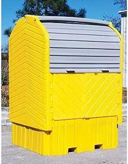 UltraTech 1162 Polyethylene Ultra-IBC Hard Top Spill Pallet, 8500 lbs Capacity, 5 Year Warranty, Yellow