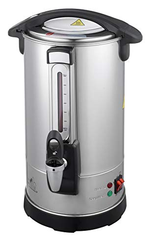 Classic Kitchen 40 Cup Capacity Hot Water Boiler Urn with new Twisloc˜ Safety Locking Tap, Metal Spout, Stainless Steel Double Wall and a Unique Circuit Board controlled Heating System allowing for Instant Reboil. Perfect for Keeping Hot Water for Tea, Coffee, and for Entertaining.