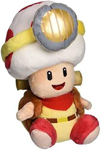 Little Buddy Super Mario Bros. 6.5 Captain Toad Sitting Pose Stuffed Plush by Little Buddy