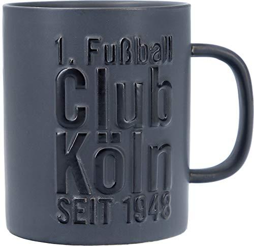 1. FC Köln Kaffeebecher/Tasse ** Relief schwarz **