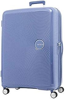 American Tourister Curio Hardside Spinner Suitcase, 80 Centimeter, Denim Blue