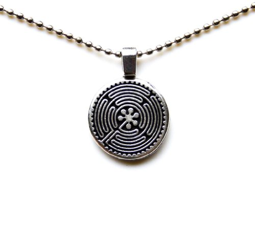 Quality Handcrafts Guaranteed Celtic Labyrinth Statement Pendant Necklace