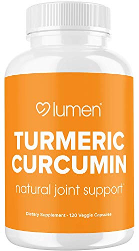 Turmeric Curcumin with BioPerine - Organic Extra Strength Anti-Inflammatory for Natural Relief of Joint Pain & Back Pain - Turmeric Curcumin with Black Pepper Capsules Supplement - 120 Count