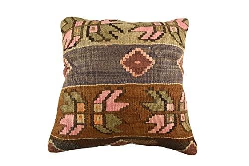 Kelim 3519 - Cojín (50 x 50 cm, funda de almohada decorativa, 50 x 20 pulgadas), diseño de Kilim Lumbar