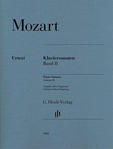 Klaviersonaten, Band II; Ausgabe ohne Fingersatz: Ausgabe ohne FS, Klavier zu zwei Händen; ; Tasteninstrumente; Klavier; Ausgabe ohne Fingersatz;