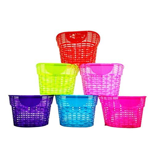LIOOBO 12-20 Pulgadas Cesta de Bicicleta de plástico para niños Cesta de Almacenamiento de Bicicletas (Color Aleatorio)