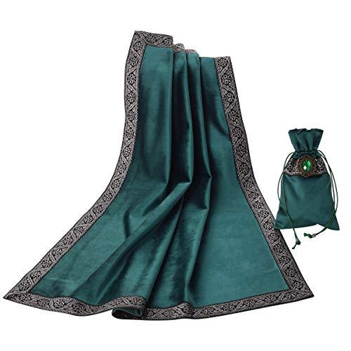 BLESSUME Altar Tarot - Mantel para mesa (1 bolsa), color verde