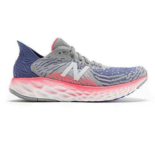 New Balance 1080v10 Zapatillas de correr de espuma fresca para mujer, Gris (Acero/Azul magnético), 37 EU
