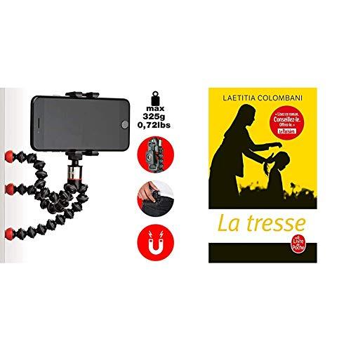 JOBY One GP Support Magnétique et Universel, Trépied GorillaPod Flexible avec Télécommande Bluetooth pour Smartphones et iPhone, JB01494-BWW & La Tresse