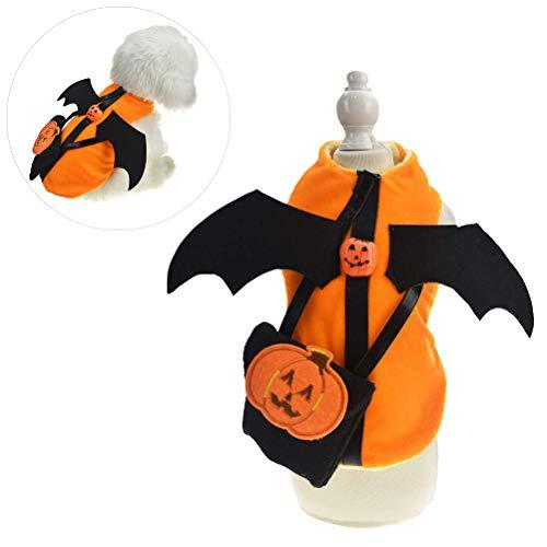 Schimer honden Halloweenkostuum, Halloween huisdier hond pompoen kostuum voor hond puppy party coslay decoratie, Halloween kat kleding