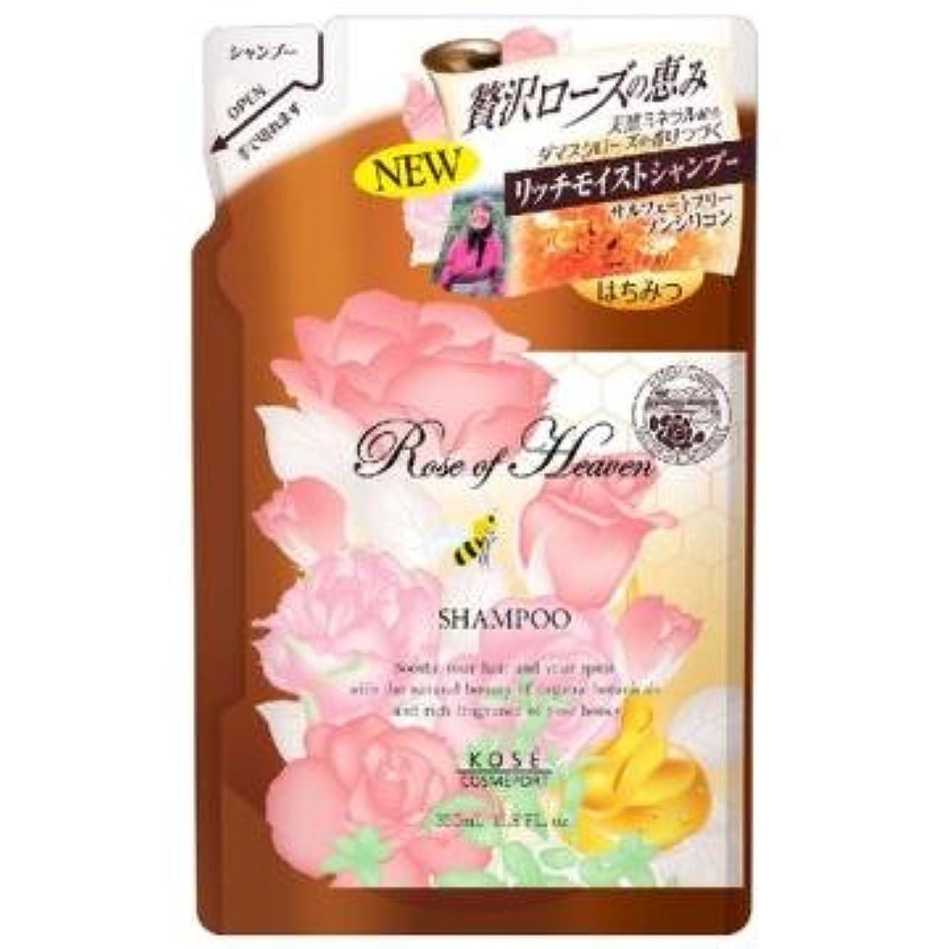 マーキーアマチュアセージコーセー ローズオブヘブン シャンプー つめかえ 350mL ノンシリコン ダマスクローズの優雅な香り お得な詰替え用 ×12点セット (4971710384581)