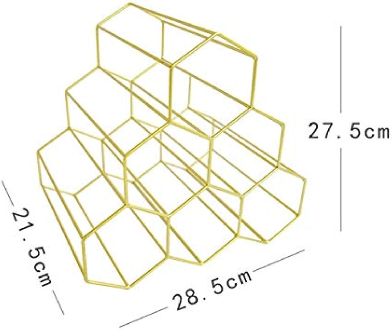 Nordic Creative Geometric Rack Metal Simple Household Grape Rack Restaurant Lig Room Bar Cabinet Display   02