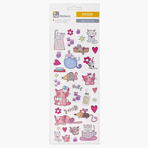 Fun Stickers Cute Cats 705