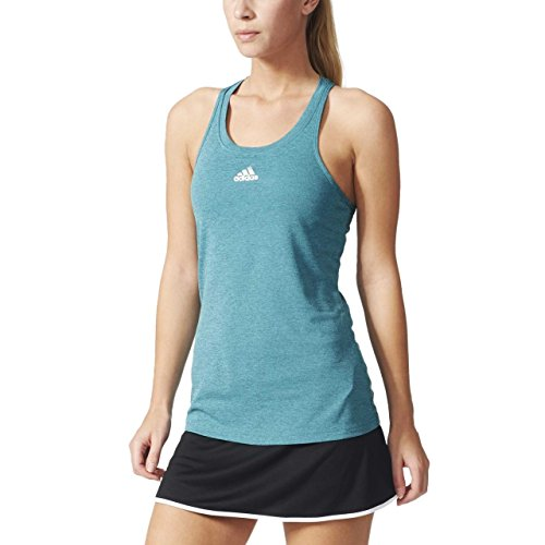 adidas UNCTL CLMCH Camiseta, Mujer, Negro/Dorado (Chshgr/Plamat), S