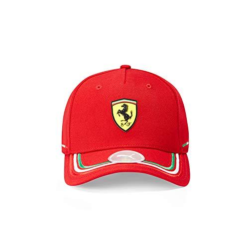 Ferrari - Mercancía Oficial de Fórmula 1 2021 Colección - Hombre - Italian Cap - Cap - Rojo - One Size