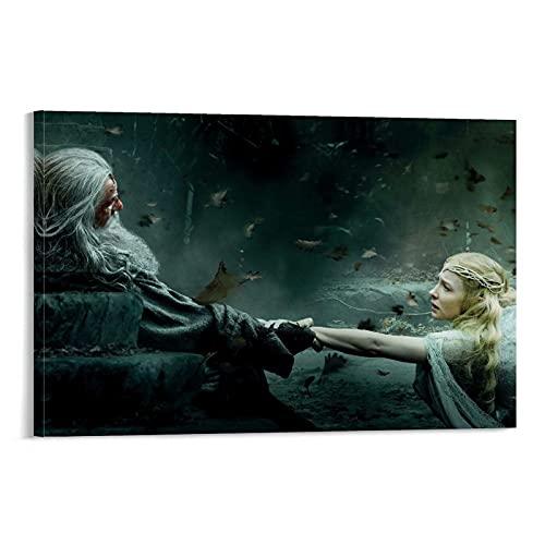 DRAGON VINES Póster de la pared de Galadriel y Gandalf The Hobbit La Batalla de los Cinco Ejércitos de Galadriel y Gandalf con impresión de graffiti (60 x 90 cm)