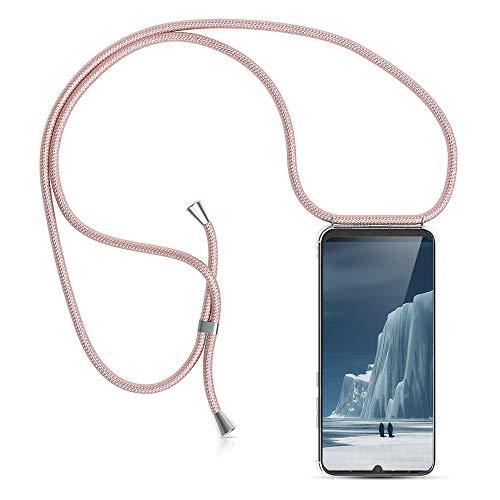 XCYYOO Handykette Handyhülle mit Band für Huawei P30 Lite - Handy-Kette Handy Hülle mit Kordel zum Umhängen Handyanhänger Halsband Lanyard Case/Handy Band Halsband Necklace