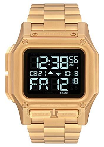NIXON Regulus SS A1268 - All Gold - 100 Meter / 10 ATM Water Resistant Men's Digital Watch