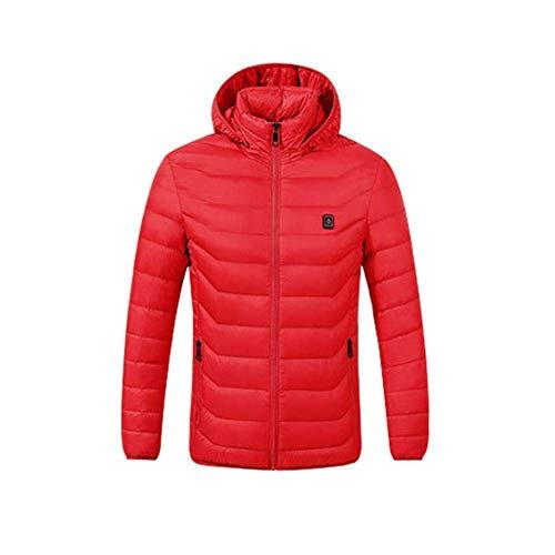 XASY Elektrische verwarmde jas, uniseks, lichte geïsoleerde winter voor heren, intelligente voorruit, one-key verwarming, koolstofvezel, elektrische warme jas, donsjack, katoen kleding