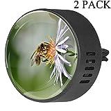 Ambientador Brisa del Océano Aceite Esencial Aromaterapia Abeja Flor de Insecto Floración Polen Macro Decoraciones Difusor de Coche Personalizado con Sabores Paquete de 2