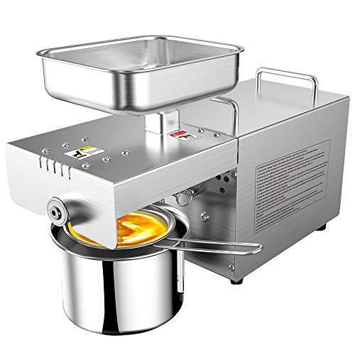 TOPQSC Kommerziell Ölpresse Maschine Heiß, Kalt Automatisch Physikalischer Pressöl-Expeller 220V 700W Elektrisch Auszieher für Mais-Kokosnuss-Erdnuss-Sonnenblumensamen (A)