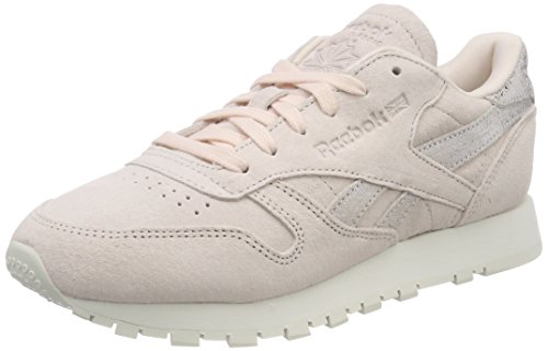 Reebok Damen Classic Leather Shimmer Gymnastikschuhe, Pink (Pale Pinkmatte Silverchalk), 37.5 EU