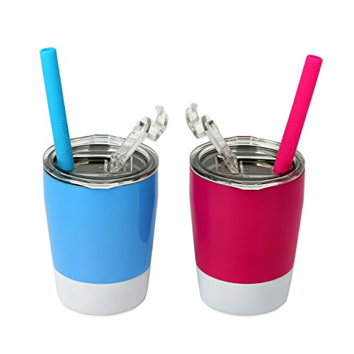 Toddler tumbler cup with straw and lid