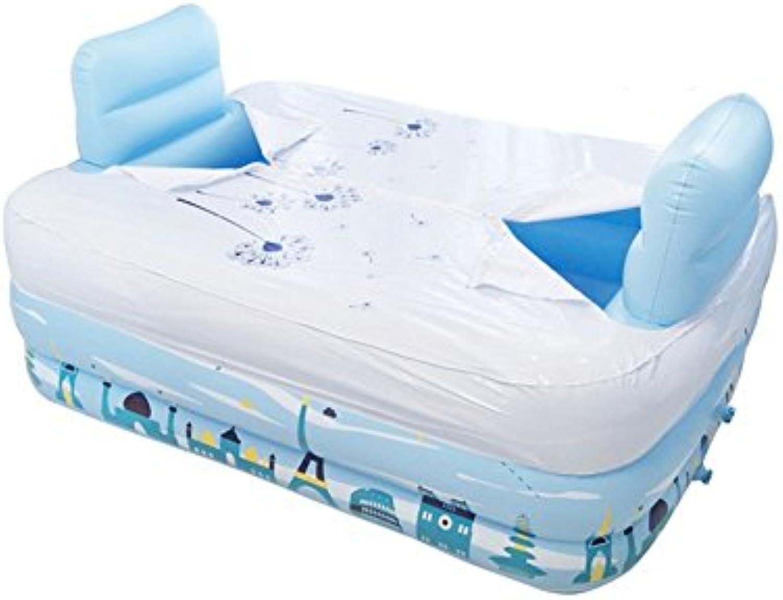 Aufblasbare Badewanne Double Fold Home Badefass Schwimmbecken Ein Mehrzweckbecken Mit Deckel (gre   B M)