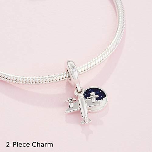 Pandora Jewelry Propeller Plane Dangle Cubic Zirconia Charm in Sterling Silver