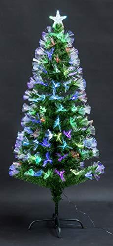 TruWare Weihnachtsbaum LED Glasfaser Farbwechsler Christbaum 45-180cm Kunstbaum (120cm)