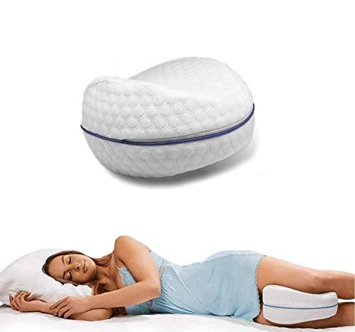 Cuscino per gambe Memory Foam Aiuto Posizione Corretta per Dormire Contro Mal di Schiena e Problemi Posturali