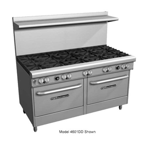 "Southbend 4606CC-2GR 60"" Ultimate Restaurant Gas Range w/ 3 Star-Saute Burners Front, 2 Pyromax Burners Rear, 24"" Right Griddle & (2) Cabinet Bases"