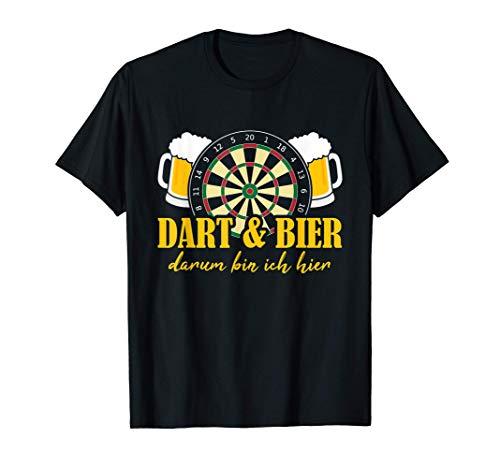 Herren Dart & Bier Darum Bin Ich Hier, König, Herren Darts Spieler T-Shirt