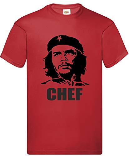 maglia che guevara Hole Gadget S.r.l Magliette Uomo Divertenti Manica Corta T Shirt Chef Guevara Idea Regalo Originale BBQ Cucina (L)
