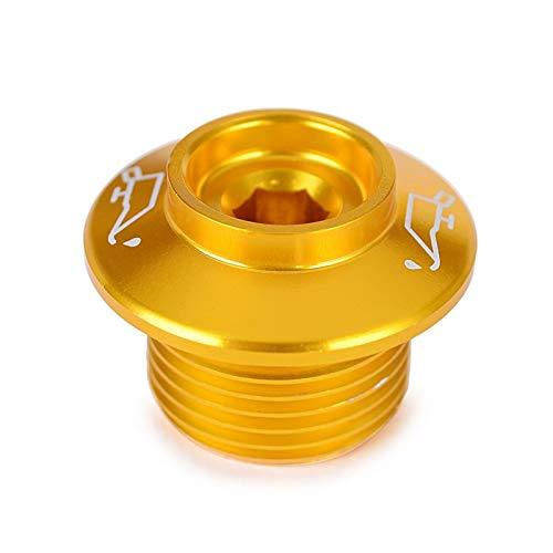 M20 * 1.5 tapón de tapón de Aceite de Aceite del Motor para Suzuki B-King DL250 DL650 DL1000 V-Strom (Color : Gold)