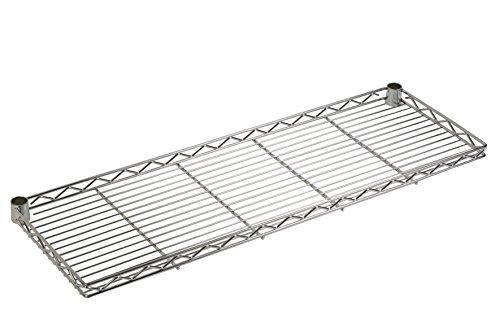 ARCHIMEDE système composable Étagère aggettante, métal, chromé, 121 x 30 x 4 cm